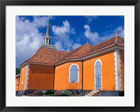 Framed Church of Trois Islets, Martinique, Caribbean Print