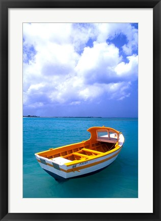 Framed Close-up of Fishing Boat, Aruba Print