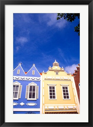 Framed Dutch Architecture, Oranjestad, Aruba Print