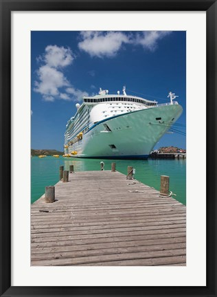 Framed Antigua, St Johns, Heritage Quay, Cruise ship Print