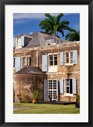 Framed Nelson's Dockyards, Antigua, West Indies, Caribbean Print