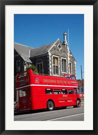 Framed Bus tour and Arts Centre, Christchurch, New Zealand Print