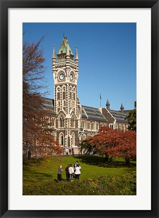 Framed Graduation photos at University of Otago, Dunedin, South Island, New Zealand Print