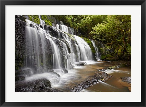 Framed Purakaunui Falls, Catlins, South Otago, South Island, New Zealand Print