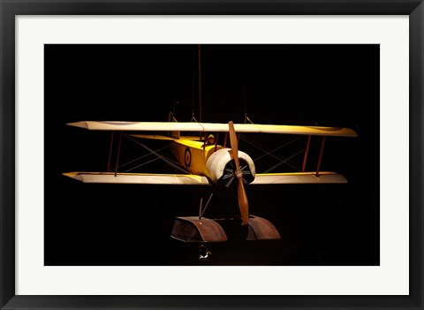 Framed Sopwith Baby seaplane, War plane, New Zealand Print