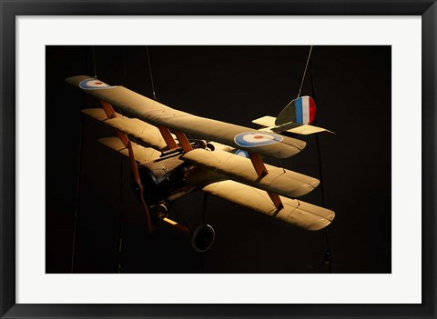 Framed Sopwith triplane, War plane, Marlborough, New Zealand Print