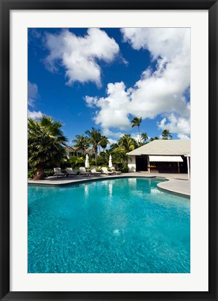 Framed Carlisle Bay Hotel, Antigua, West Indies, Caribbean Print