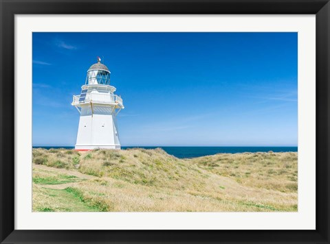 Framed New Zealand, South Island, Catlins, Waipapa Lighthouse Print
