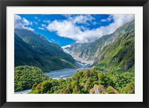 Framed New Zealand, South Island, Westland NP, Frans Joseph Glacier Print
