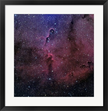 Framed Elephant Trunk Nebula Print