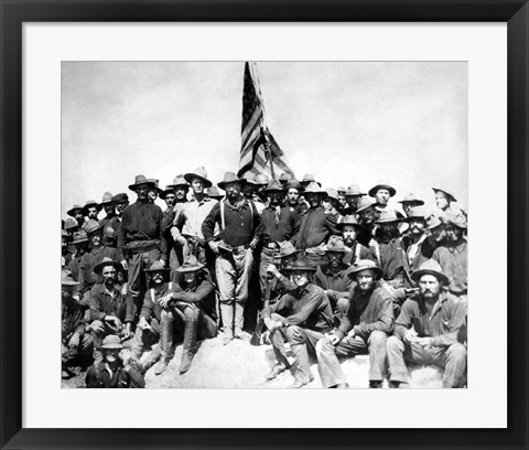 Framed Colonel Theodore Roosevelt and The Rough Riders Print