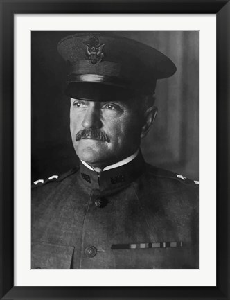Framed Major General John Pershing Print