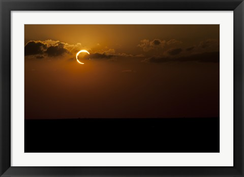 Framed Annular Solar Eclipse in Clouds Print