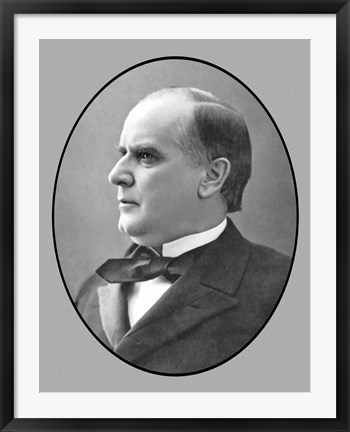 Framed President William McKinley, Jr (side profile) Print