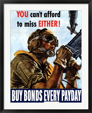 Framed Buy Bonds Every Payday Print