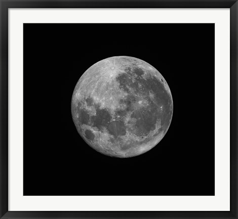Framed Supermoon of March 19, 2011 Print