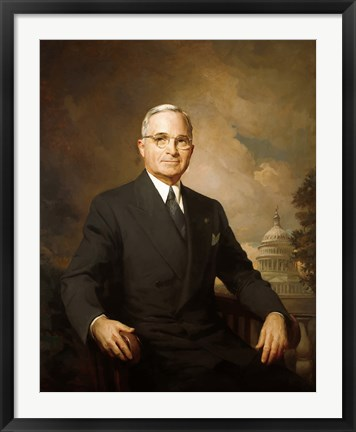 Framed Harry S Truman (color portrait) Print