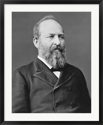 Framed President James Garfield Print