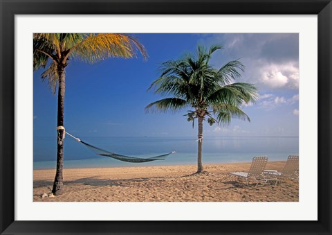 Framed Beach Scene at The Inn at Bahama Bay, Grand Bahama Island, Caribbean Print