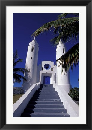 Framed St Peter Catholic Church, Long Island, Bahamas, Caribbean Print