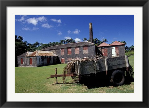 Framed St Nicholas Abbey Sugar Mill, St Peter Parish, Barbados, Caribbean Print