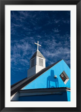 Framed Bahamas, Eleuthera, Harbor Island, Dunmore, Church Print