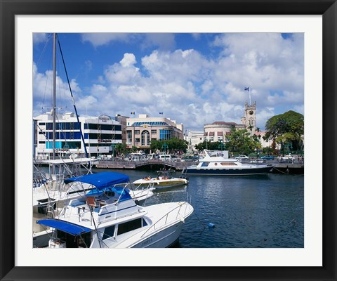 Framed Careenage, Bridgetown, Barbados, Caribbean Print