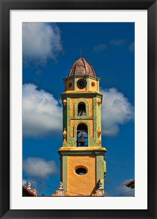 Framed Beautiful color steeple in church, Trinidad, Cuba Print