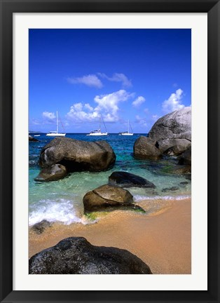 Framed Baths of Virgin Gorda, British Virgin Islands, Caribbean Print