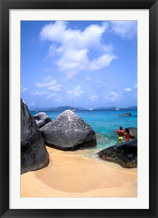 Framed Couple, Baths, Virgin Gorda Print