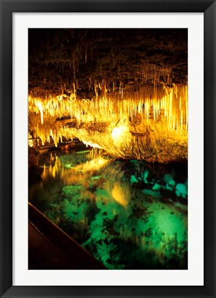 Framed Famous Crystal Caves, Bermuda Print