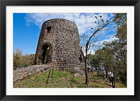 Framed Old Sugar Mill in Mount Healthy National Park, Road Town, Tortola Print
