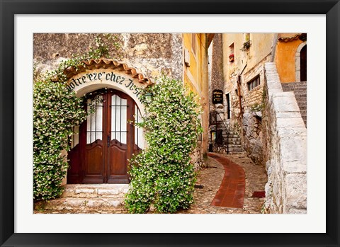 Framed Jasmine covered entryway, Eze, Provence, France Print