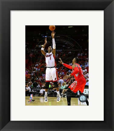 Framed Chris Bosh 2014-15 Action Print