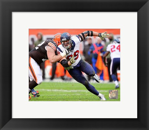 Framed J.J. Watt Defensive Action Print