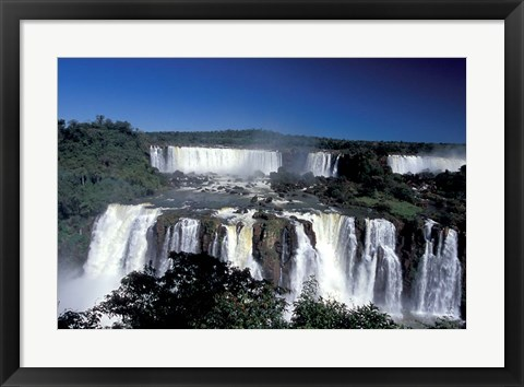 Framed Foz Do Iguacu, Iguacu National Park, Parana, Brazil Print