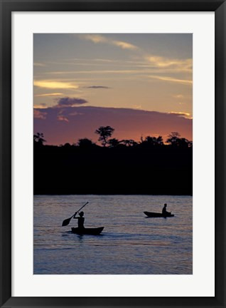 Framed Sunset over Amazon River Basin, Peru Print