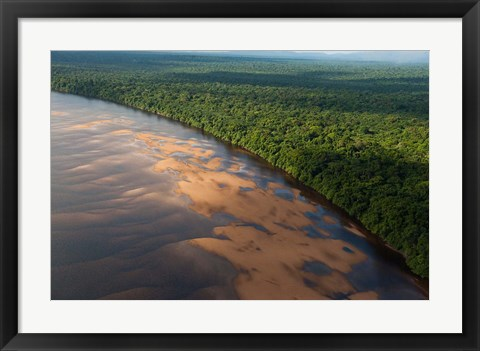 Framed Essequibo River, between the Orinoco and Amazon, Iwokrama Reserve, Guyana Print