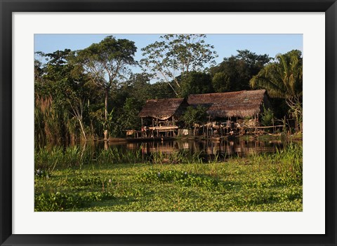 Framed Scenes along the Amazon River in Peru Print