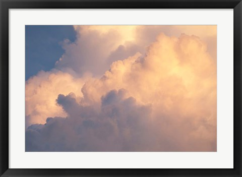 Framed Sunset clouds over Amazon basin, Peru Print