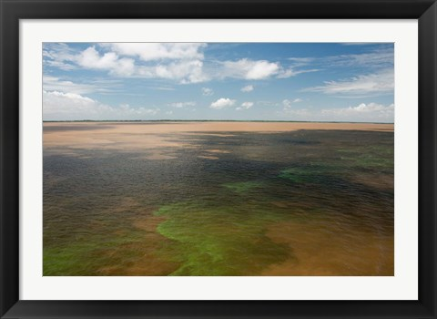 Framed Brazil, Amazon River, Algae bloom Print