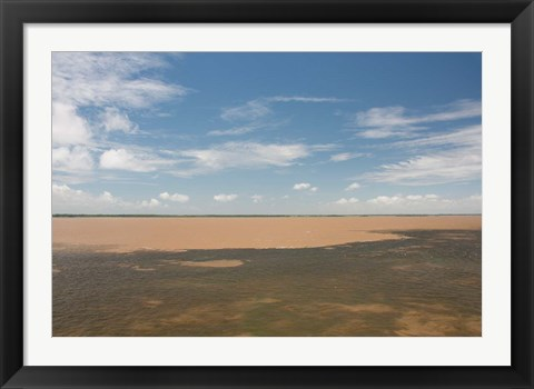 Framed Meeting of the waters at Santarem, Amazon, Brazil Print