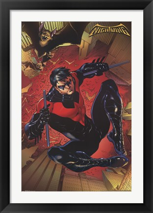Framed Nightwing - Jump Print