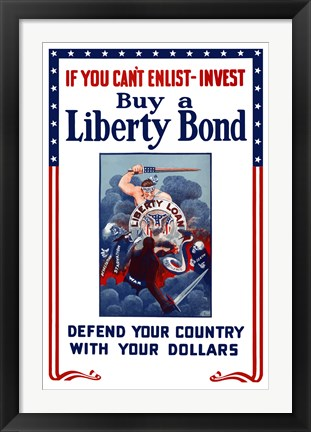 Framed Buy A Liberty Bond Print