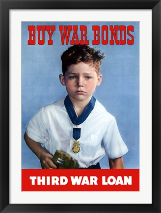 Framed Buy War Bonds - Third War Loan Print