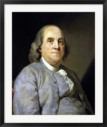 Framed Benjamin Franklin Print