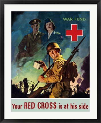 Framed Red Cross War Fund Print