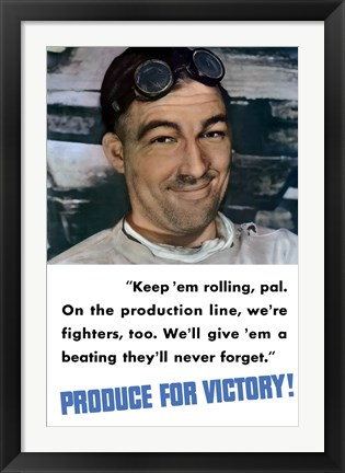 Framed Produce for Victory - Color Poster Print
