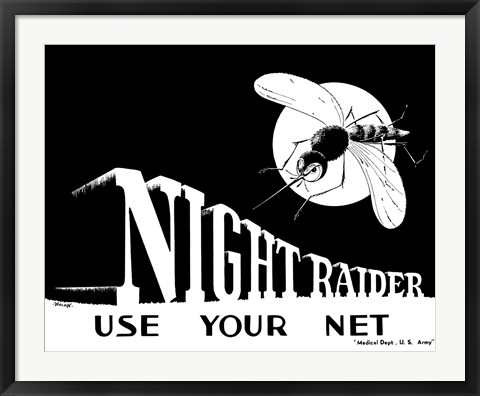 Framed Night Raider, Use Your Net Print