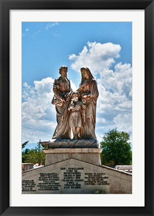 Framed Beautiful Tomas Acea Cemetery in city with statues, Cienfuegos, Cuba Print